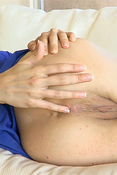 Lola - Lola masturbating in blue